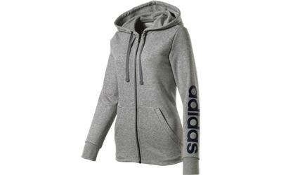 d4c796ba0c6351 ADIDAS Damen Kapuzen- Sweatjacke Essentials Linear