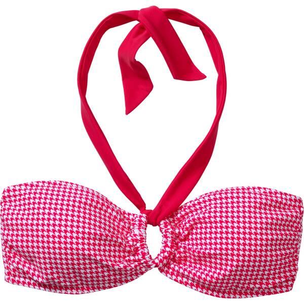 Bademode - etirel Damen Bikinioberteil D Bikini OT Meg houndstooth › Pink  - Onlineshop Intersport