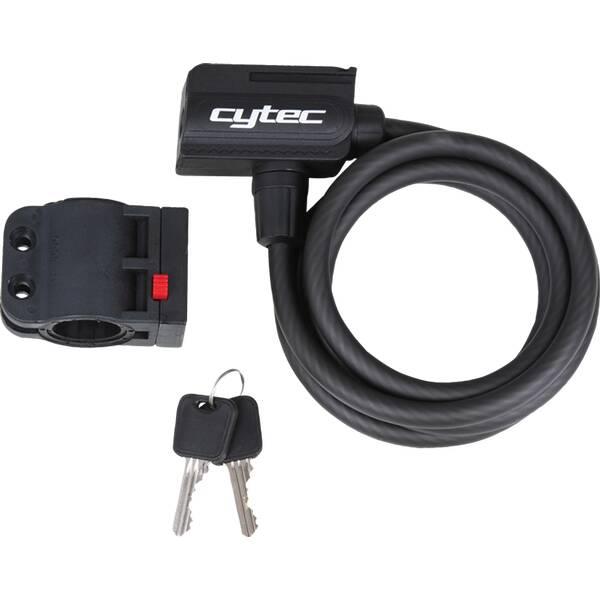 CYTEC Spiralkabelschloss MT-3506/MT-3506 Schwarz