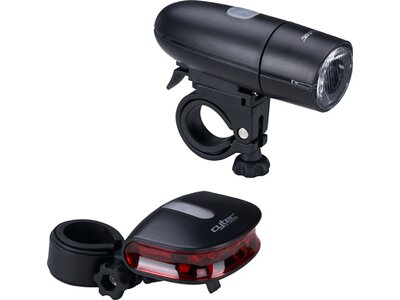 CYTEC Fahrradlicht-Set 23 LUX Batterie StVZO Schwarz
