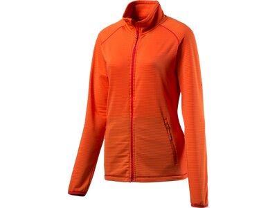 McKINLEY Damen Unterjacke D-Fleece-Jacke Dosso Orange