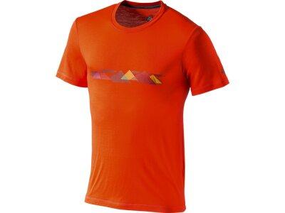 McKINLEY Herren Shirt H-T-Shirt Bafia Orange