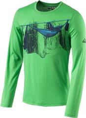 McKINLEY Herren Shirt H-T-Shirt langarm Red river LSL ux