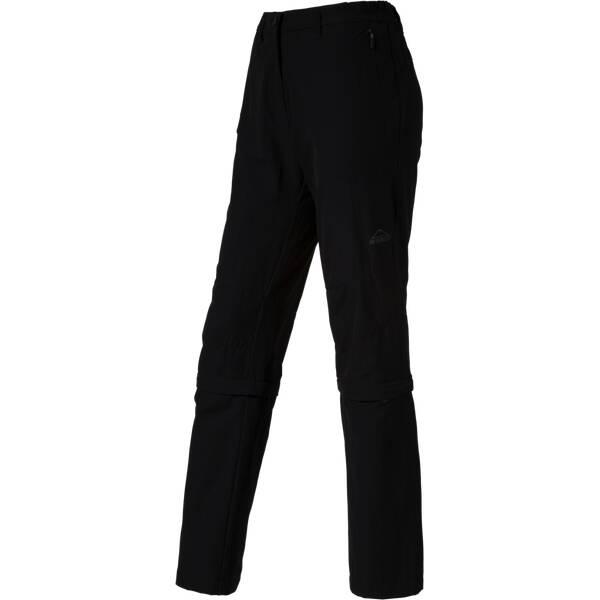 McKINLEY Damen Zipp-Off Hose Mendoran II LG Schwarz