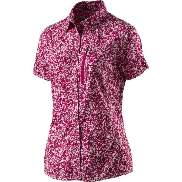 McKINLEY Damen Outdoor Bluse Moonta Kurzarm Rot