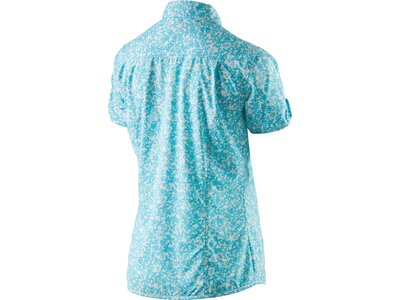 McKINLEY Damen Outdoor Bluse Moonta Kurzarm Blau