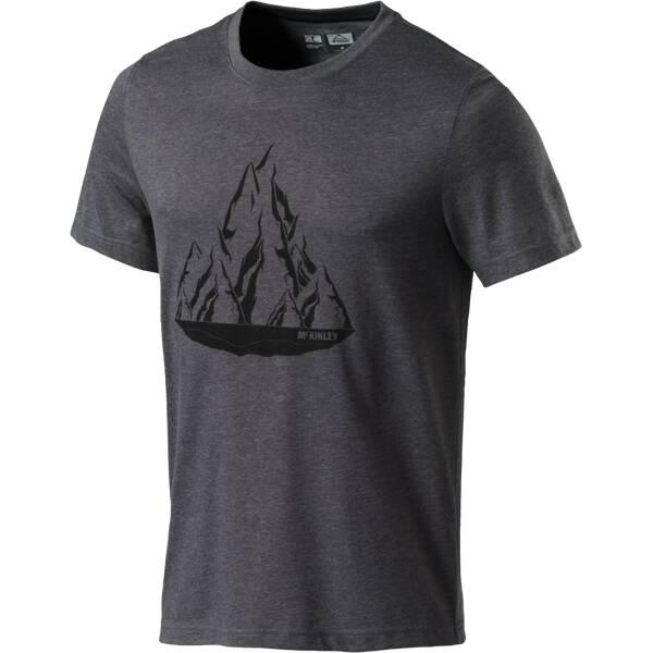 McKINLEY Herren Outdoor-Shirt Malena Active Fit Kurzarm Grau