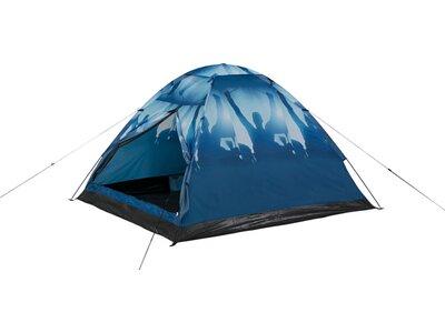 McKINLEY Camp-Zelt Monodome 3 Print Blau