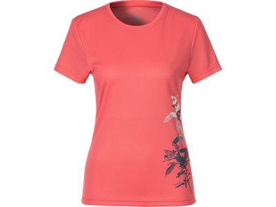 McKINLEY Damen T-Shirt Kollena Rot