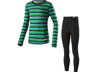 McKINLEY Kinder Unterwäschenset K-Garnitur Stripes Grün
