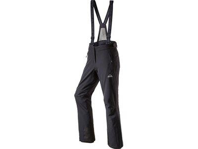 McKINLEY Damen Latzhose Skiba Premium Stretch Kurzgröße Schwarz