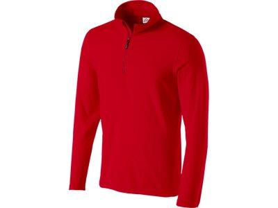McKINLEY Herren Fleece-Longshirt Cortina II Rot