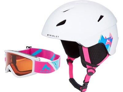McKINLEY Kinder Ski-Helm Pulse HS-016 Combo + Bri Weiß