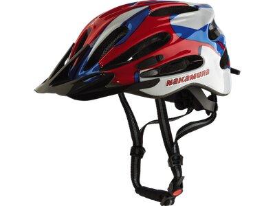 NAKAMURA Herren Helm Fahrrad-Helm Aero MTB Rot