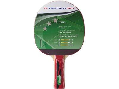 TECNOPRO Tischtennisschläger Expert 3 Stern Rot