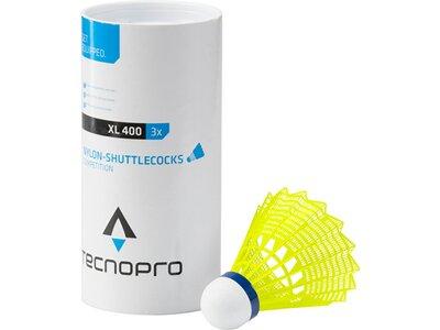 TECNOPRO Badmintonbälle XL 400 3er-Dose Gelb
