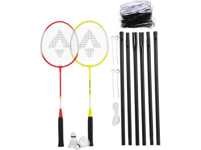 TECNOPRO Badmintonset Speed 200 2 Play. Net Set Gelb