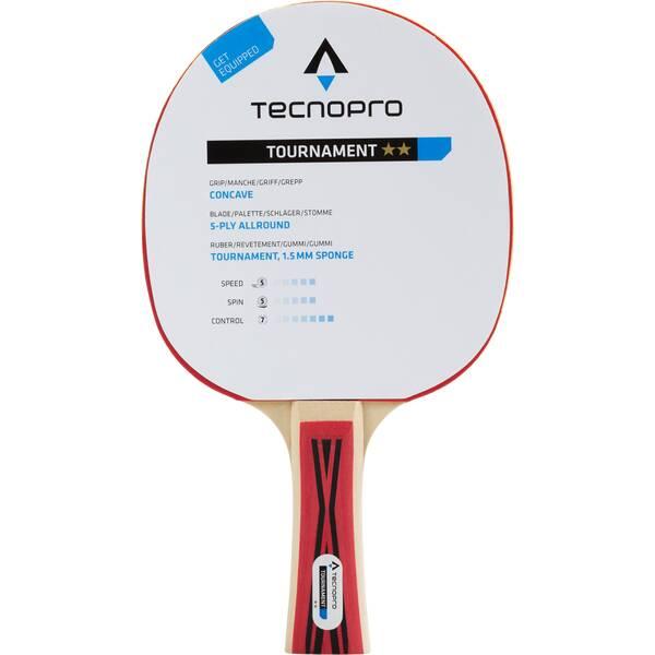 TECNOPRO Tischtennisschläger Tournament 2 Stern Schwarz