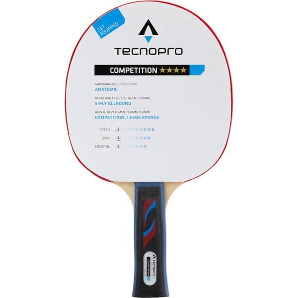 TECNOPRO Tischtennisschläger Competition 4 Stern