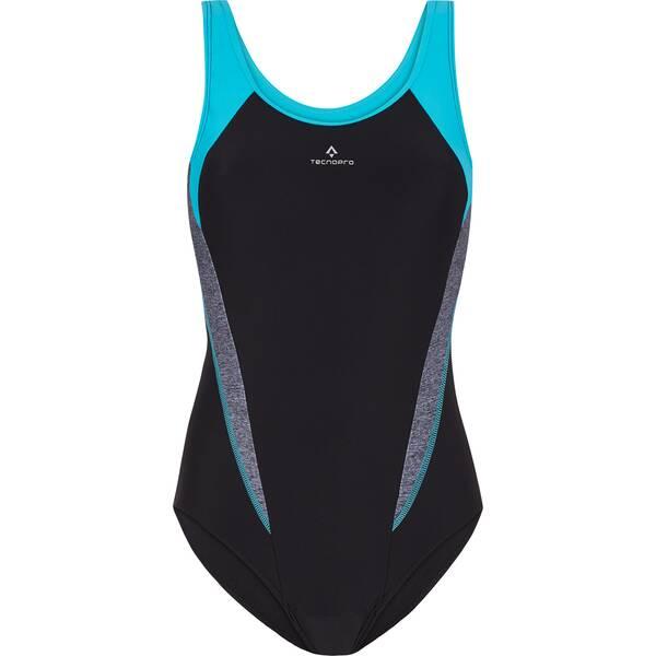 Bademode - TECNOPRO Damen Badeanzug D Schwimmanzug Rima › Schwarz  - Onlineshop Intersport