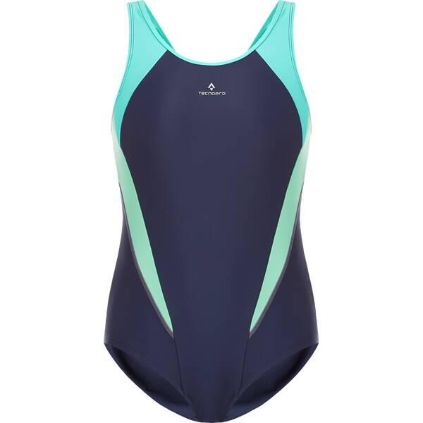 Bademode - TECNOPRO Damen Badeanzug D Schwimmanzug Rima › Blau  - Onlineshop Intersport