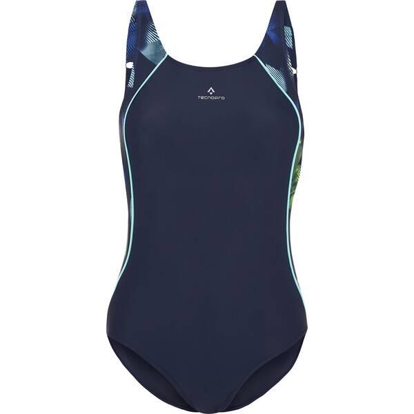 Bademode - TECNOPRO Damen Badeanzug D Schwimmanzug Rusantia › Blau  - Onlineshop Intersport