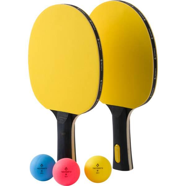 TECNOPRO Tischtennis-Set PRO 3000 POP Gelb