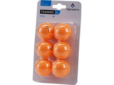 TECNOPRO Tischtennisball 1-Stern Training Orange