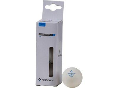 TECNOPRO Tischtennisball 3-Stern Weiß