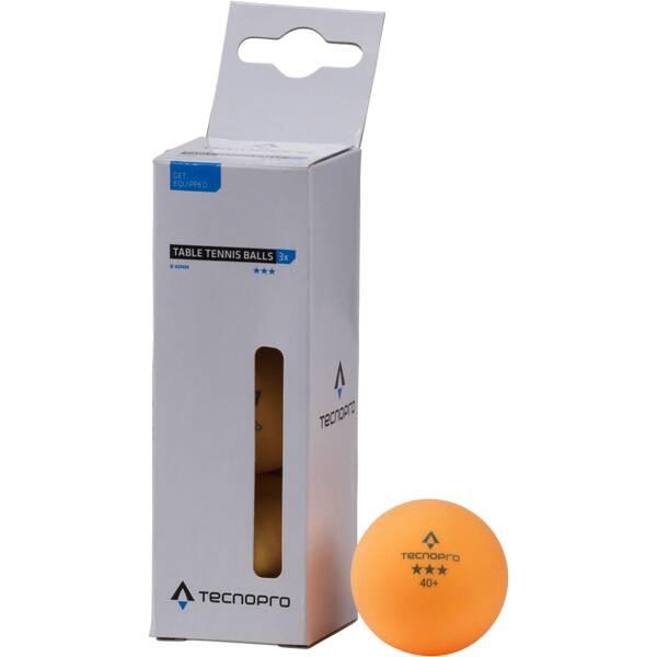 TECNOPRO Tischtennisball 3-Stern Orange