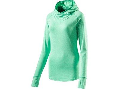 PRO TOUCH Damen T-Shirt lang Hooded Cala Grün