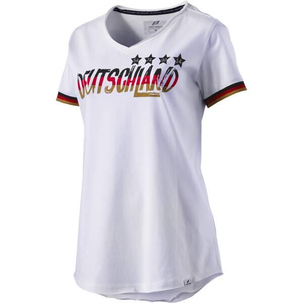PRO TOUCH Damen Fanshirt Deutschland | Sportbekleidung > Sportshirts > Fanshirts | Weiß - Schwarz - Rot - Gold | PRO TOUCH