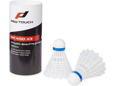 PRO TOUCH Badminton-Ball SP 400 x3 Weiß