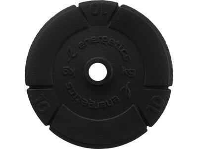 ENERGETICS Hantelscheiben Guss 10kg/15kg/20kg Schwarz