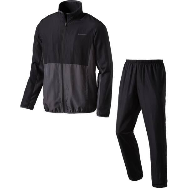 ENERGETICS Herren Trainingsanzug Divio + Dobrin | Sportbekleidung > Sportanzüge | Schwarz - Grau | Polyester | ENERGETICS