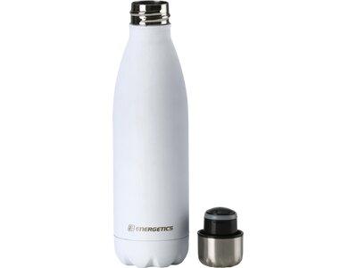 ENERGETICS Trinkflasche Metal Bottle 0.5L Weiß