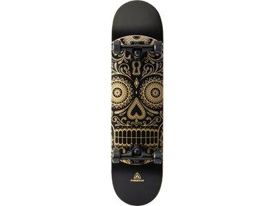 FIREFLY Skateboard Golden Skull Schwarz
