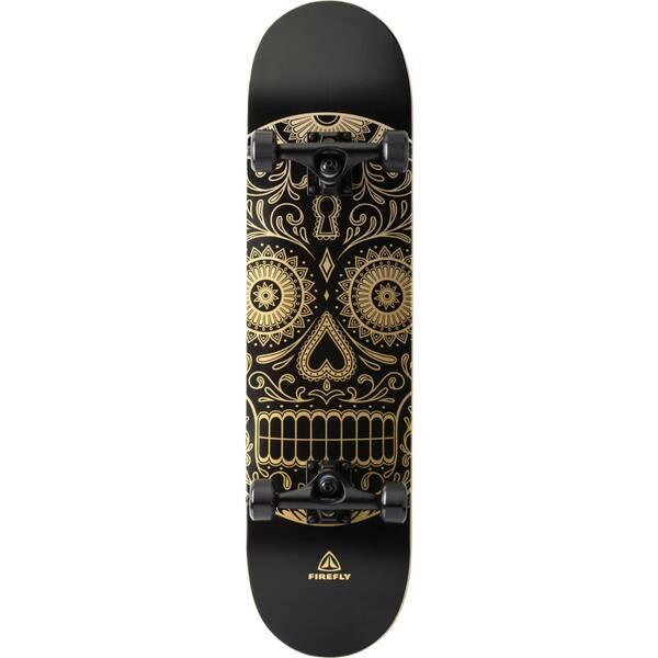 FIREFLY  Skateboard Golden Skull