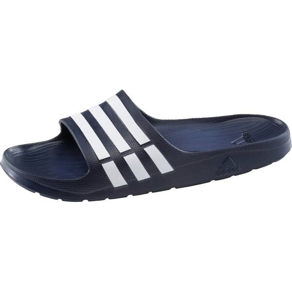ADIDAS Herren Badeschuhe Duramo Slide | Schuhe > Badeschuhe | Dunkelblau - Weiß | ADIDAS