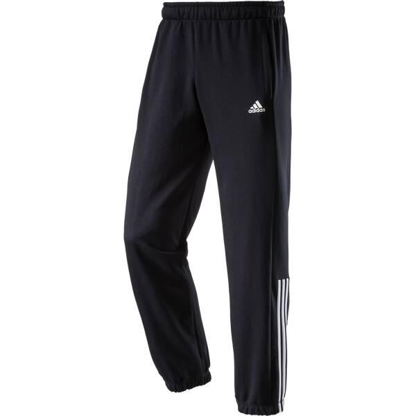 ADIDAS Herren Sporthose Essentials 3S Mid Light Schwarz