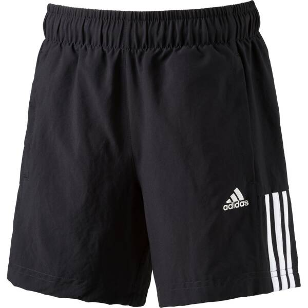 ADIDAS Kinder Shorts Essentials Mid 3 Stripes Woven Schwarz