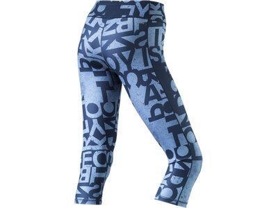 ADIDAS Damen Tight WO 3/4 TGHT AOP Blau