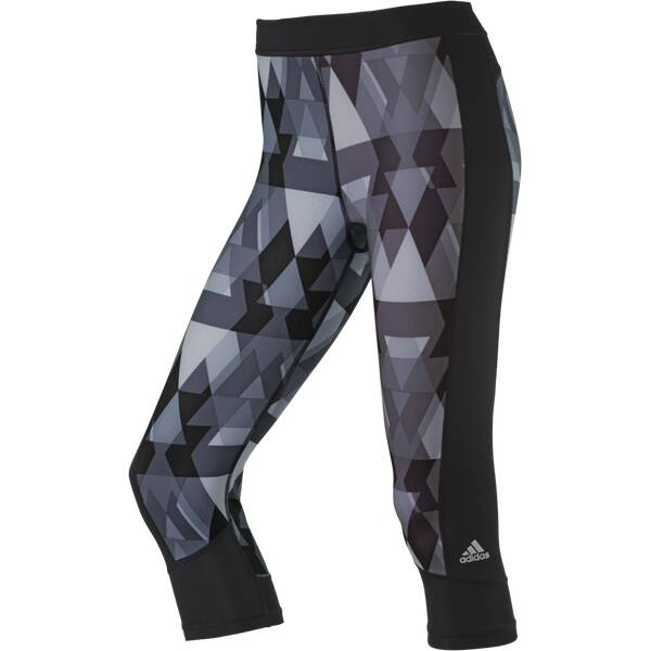 ADIDAS Damen Tight Techfit Triax-Print Schwarz