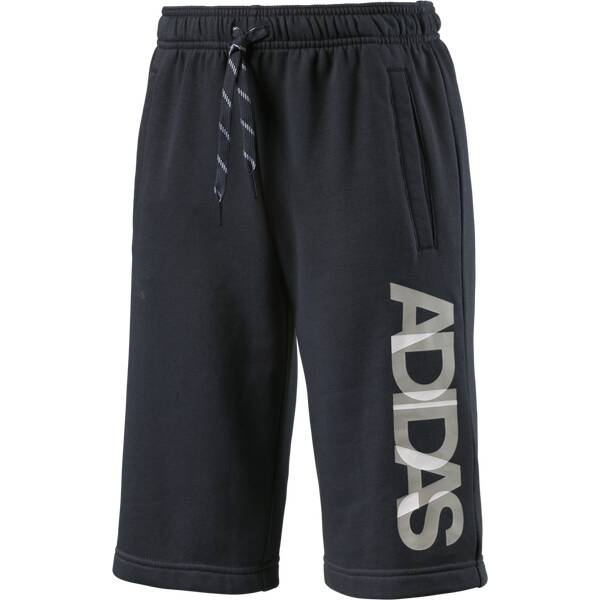 ADIDAS Kinder Shorts Locker Room Brand Knitted Grau