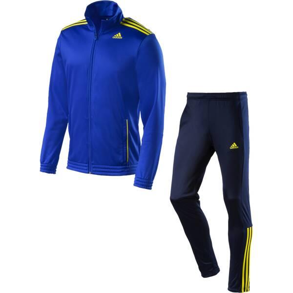 ADIDAS Herren Trainingsanzug Tracksuit Entry Knitted | Sportbekleidung > Sportanzüge > Trainingsanzüge | Blau - Dunkelblau - Gelb | ADIDAS