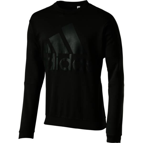 ADIDAS Herren Sweatshirt Heavy Terry Crew Grau