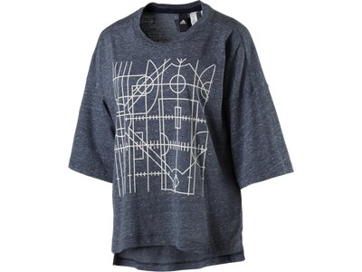 ADIDAS Damen Shirt OVSIZED GRAPH T Blau