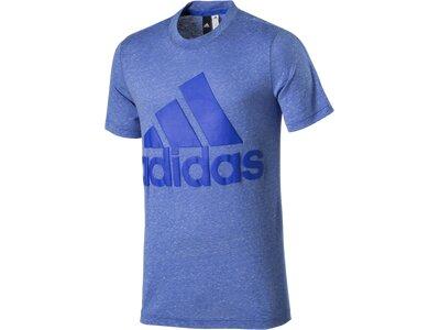ADIDAS Herren Shirt Basic Tee Logo Blau