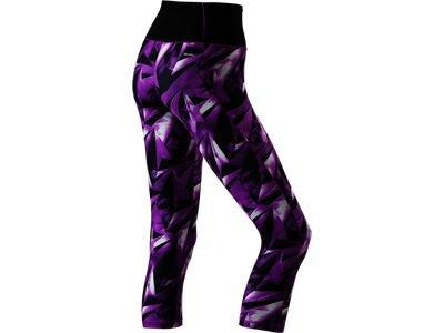 ADIDAS Damen Tight Workout 3/4 High Rise AOP Lila