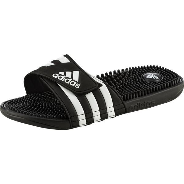 ADIDAS Herren Badeschuhe Adissage | Schuhe > Badeschuhe | Schwarz - Weiß | ADIDAS